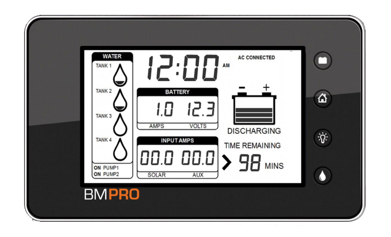 Bmpro Trek Battery Amp Water Tank Monitor Energy Unlimited