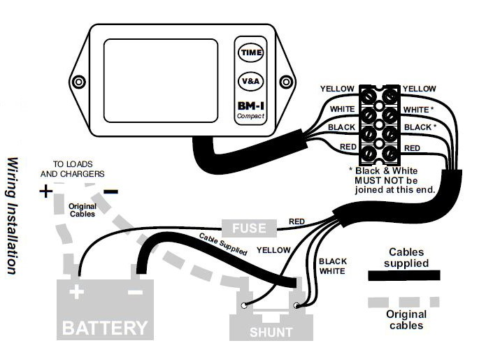 Nasa Marine Bm1 Compact Battery Monitor 12v on Solar Pv System Wiring Diagram
